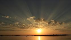 Sonnenuntergang am Breitlingsee