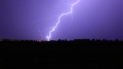 Blitzeinschlag bei Brandenburg
