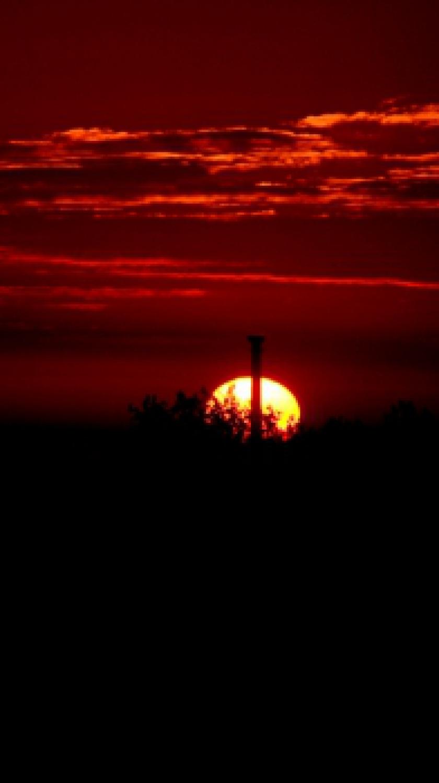 Sonnenuntergang im Herbst 2013